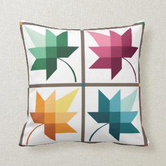 Autumn Splendor Throw Pillow | Barn Quilt