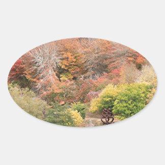 Autumn splendour, Adelaide Hills 2 Oval Sticker