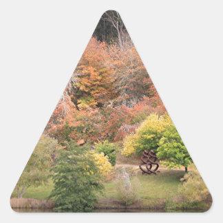 Autumn splendour, Adelaide Hills 2 Triangle Sticker