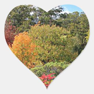 Autumn splendour, Adelaide Hills Heart Sticker