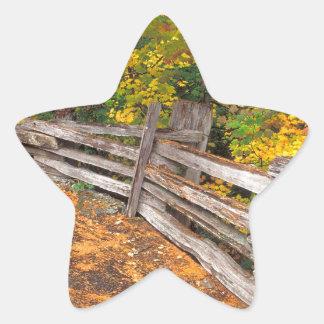 Autumn Split Rail Mount Rainier Star Sticker
