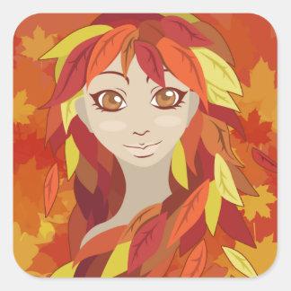 Autumn Square Sticker