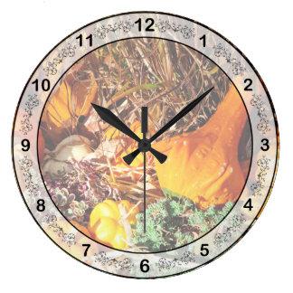 Autumn - Squash - Feeling squashed Large Clock