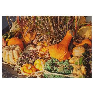 Autumn - Squash - Feeling squashed Wood Poster