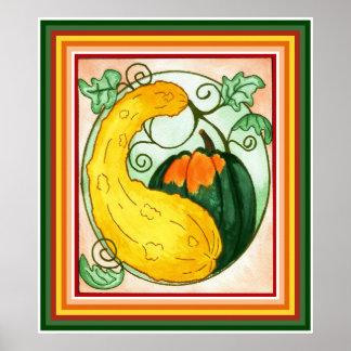 Autumn Squash Print