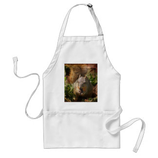 Autumn Squirrel at Lunch Adult Apron
