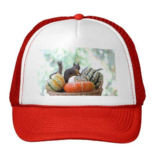 Autumn Squirrel Trucker Hat