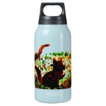 Autumn Squirrels Animal Art Insulated Water Bottle