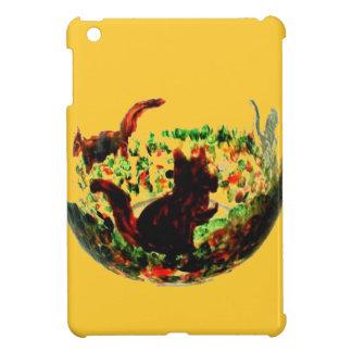 Autumn Squirrels Animal Art iPad Mini Cover
