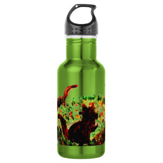 Autumn Squirrels Animal Art Water Bottle