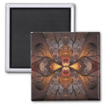 Autumn Stained Glass Fridge Magnet
