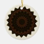 Autumn Star Kaleidoscope Mandala Christmas Tree Ornament