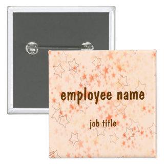 Autumn Stars Employee Name Tag Button