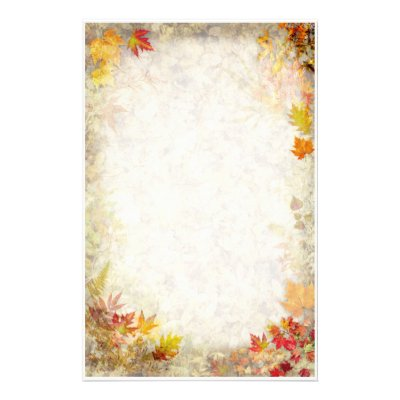 painted autumn leaves pattern stationery zazzle com