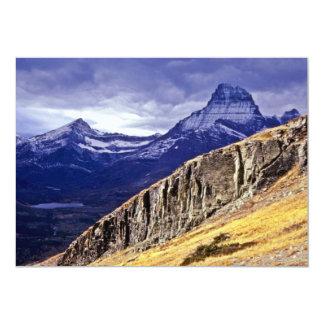 Autumn Storm Clouds - Glacier Lake National Park 5x7 Paper Invitation Card