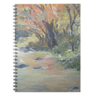 Autumn stream notebook