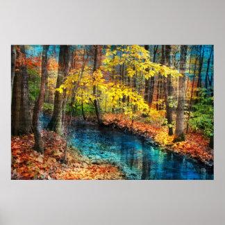 Autumn stream,poster poster