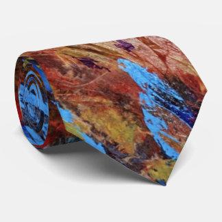 """Autumn Streams"" Abstract Design Tie"