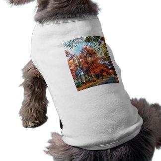 Autumn Street Perspective Pet T-shirt