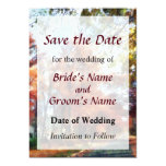 """Autumn Street Perspective Save the Date 5"""" X 7"""" Invitation Card"""