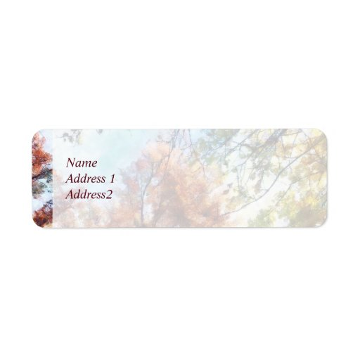 Autumn Street Perspective Save the Date Return Address Labels