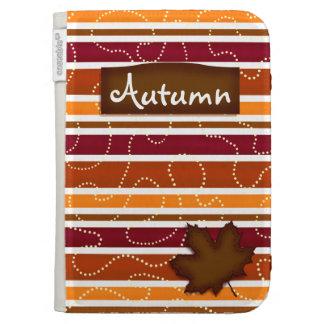 Autumn Stripe Kindle Cover - Fall Colors