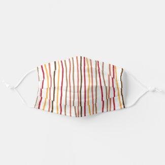 Autumn Stripes Cloth Face Mask
