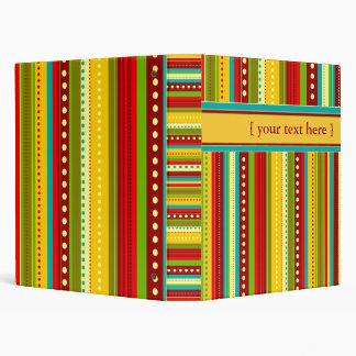 Autumn Stripes Custom Binder