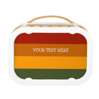 Autumn Stripes custom lunch boxes