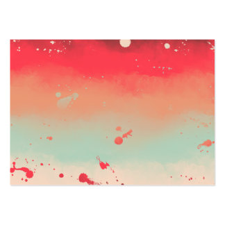 Autumn Stripes Watercolor Abstract Splatters Large Business Card