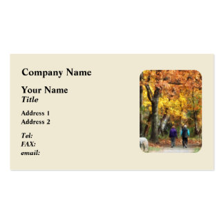 Autumn Stroll Double-Sided Standard Business Cards (Pack Of 100)