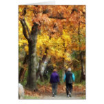 Autumn Stroll Greeting Cards