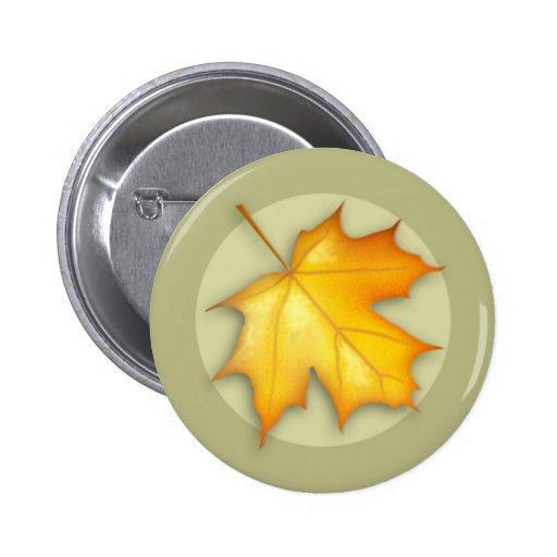 Autumn Sugar Maple Leaf Button