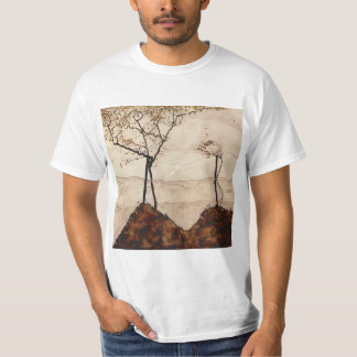 Autumn Sun and Trees by Egon Schiele T-Shirt