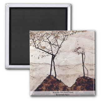 Autumn Sun And Trees By Schiele Egon Fridge Magnets