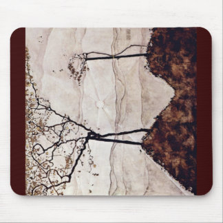 Autumn Sun And Trees By Schiele Egon Mouse Pad