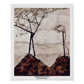 Autumn Sun And Trees By Schiele Egon Posters