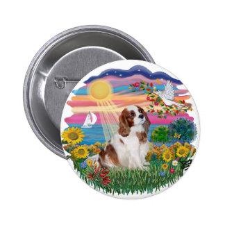 Autumn Sun - Blenheim Cavalier Pinback Button