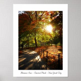 Autumn Sun - Central Park - New York City Poster