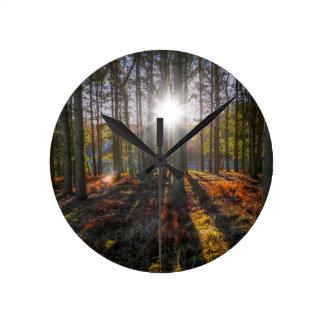 Autumn Sun Round Wallclock