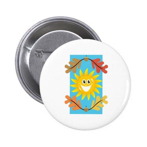 Autumn Sun Pinback Button