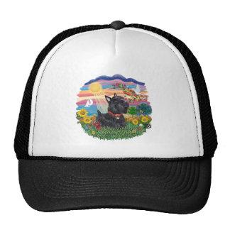 Autumn Sun - Scottish Terrier #6 Trucker Hat