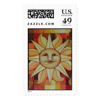 Autumn Sun Stamp