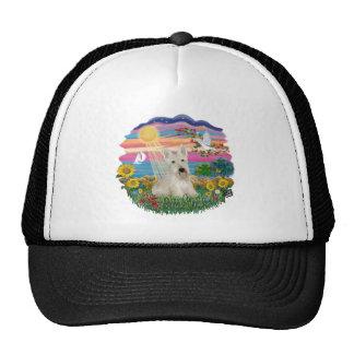 Autumn Sun - Wheaten Scottish Terrier Trucker Hat