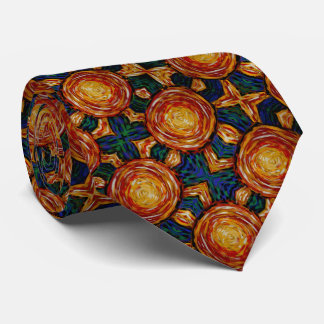 Autumn Sunburst Pattern Neck Tie