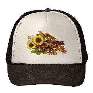 Autumn Sunflower and Corn Bouquet Trucker Hat
