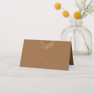 Autumn Sunflower Folded Place Cards