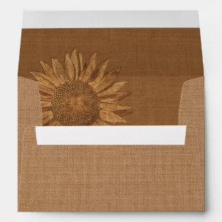Autumn Sunflower Invitation Envelope