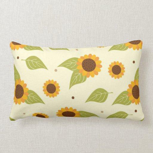 Throw Pillows With Sunflower Design : Autumn Sunflower Pattern Throw Pillow Zazzle