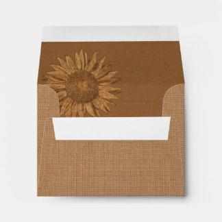Autumn Sunflower RSVP Envelope